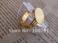 12mm pad Gold plated Ring base Ring blanks Ring Setting