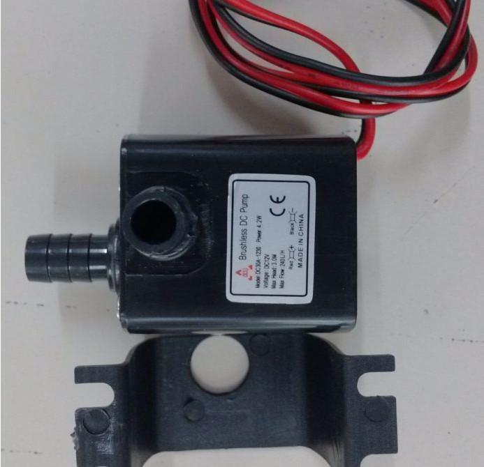 free shipping !waterproof DC 12 CPU Cooling CAR Brushless Water Oil Gas Online Submersible Pump(China (Mainland))