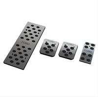 Foot pedal lengthen thickening slip-resistant car mats wire ring mat stainless steel brake pedal accelerator pedal