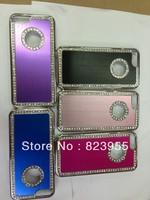 Newest Metal Aluminum Diamond Case For iphone5c , Brushed Chrome Hard Case  + DHL free shipping  100pcs/lot