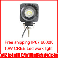 2013 New product 1 x 10W CREE Led work light IP67 10-30V stainless steel Free shipping