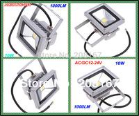 12V-24V AC/DC 10W Warm White LED Floodlight Lamp High Power Waterproof Outdoor Garden Gray/Black Case 100pcs/lot FL-100