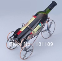 Retro bicycle wine rack wrought iron wine cup holder European furnishings bottle metal  tool bar rack holder wine metal