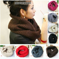 Free shipping New hot! Unisex Winter knitting Wool Collar Neck Warmer Scarf Shawl