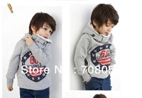 Retail  hot  selling 2013 winter children long  sleeve  sweater,thick warm  boys  hoodies for  2-6years  kids  in  stock