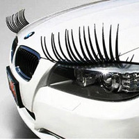 Car personalized car stickers headlight electric eye stickers false eyelashes car stereo a pair of