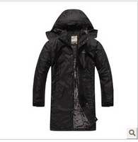 2013 new winter sport coats men long add wool cotton cotton-padded clothes to keep warm cotton-padded jacket