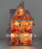 Large Dream Villa Room DIY Wood Dollhouse all Furniture including