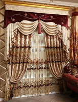 Fashion beautiful huating precision ziziphus living room curtain jacquard embroidered curtain  2.8X1M