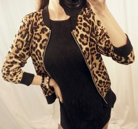 Autumn and winter sweet all-match street style leopard print coat