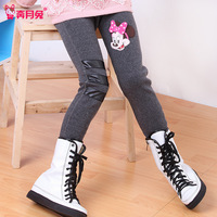 2013 children's clothing winter female child legging plus velvet thickening autumn and winter female cotton child legging