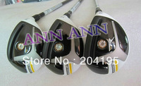 Stage 2 Rescue Golf hybrid clubs 3# 4# 5# 3pcs/lot with graphite shaft S or R free headcovers freeshipping