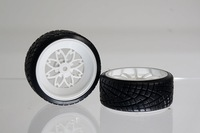 Black tire tyre made from plastic matched  with 1/10 rc model car