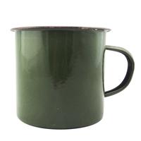 Reminisced 9cm Army Green thickening enamel cup vintage enamel mug cup glass logo printing