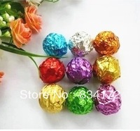 New 100 X Handmade chocolate wrapping paper aluminum foil chocolate candy packaging tin foil paper 8 * 8 cm--orange