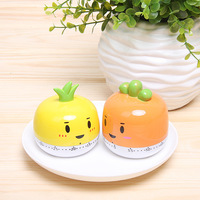Freeshipping New Creative Cute Fruit & Vegetable Mini Kitchen Timer chef Count Down Timer 12pcs/lot
