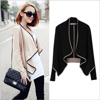 2013 New Fashion Women's Casual all-match long-sleeve pad shoulder Short Design Jacket Outerwear L004