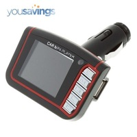 "1.8"" LCD Car MP3 MP4 Player Wireless FM Transmitter SD MMC Card with Remote Control Free Shipping"
