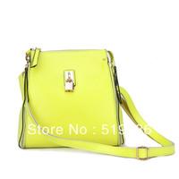 2013 genuine cowhide leather bucket bag messenger bag candy color handbag chain one shoulder cross-body bags female