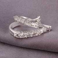 Hot Sale!Free Shipping 925 Silver Earring,Fashion Sterling Silver Jewelry,Cute Zircon Earrings SMTE312