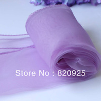 10 X Lavender Organza Chair Cover Sashes Bow Table Runners For Wedding Party