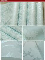 High Quality 10M,Damask Pattern Style Flocking Non-Woven Wallpaper Rolls,Light Blue,Bedroom.TV
