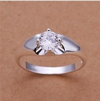 Free Shipping 925 Sterling Silver Ring Fashion Zircon Silver Jewelry Ring Women Finger Rings Wedding Gift Top Quality SMTR203