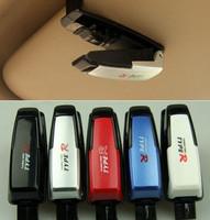 New Car Glasses Holder, 5pcs/lot auto Visor Card clamp, Five Colors Model glasses clip ,free shipping car paper clip