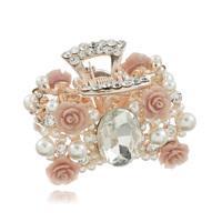 Accessories handmade pearl crystal hair accessory flower Medium gripper hair caught hairpin d005