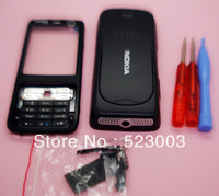 Plastic full housing cover+keyboard+tools for Nokia N73 BLACK