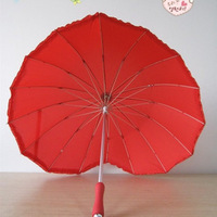 Heart umbrella  lovers umbrella the wedding umbrella  poleaxe princess umbrella