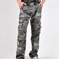 free shipping Spring casual fashion attractive military training camouflage men pants