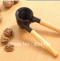 New 1 X High-grade funnel type walnut clip with wooden handle walnut pincers new nuts walnut shelling machine