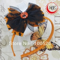 Free Shipping 2013 Hot-selling Kids Halloween Bow Headband