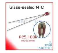 100k ohm B2 3D printer precision single-ended glass sealed 3950 NTC thermistor temperature  100pcs/lot Free shipping