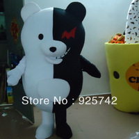 Dangan Ronpa Dangan-Ronpa Mono Kuma Black/White Bear Cosplay Costume  Black and white bear mascot  costume