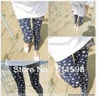 New style!  2013 New Fashion Women Han Edition Cultivate One's Morality Joker Women Leggings Star Item Leggings Pants