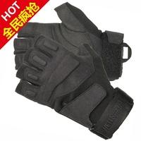 Big Promotion ! Black Hawk gloves male semi-finger gloves tactical gloves semi-finger is full male fitness ride
