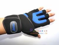 Lengthen wrist support breathable type super-fibre slip-resistant male instruments fitness semi-finger fitness gloves