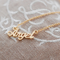 925 sterling silver personalised jewelry, name necklace free shipping