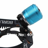 Adjustable Cree XM-L T6 3-Mode 1200LM Headlamp With Charger- Blue Color (2*18650)+Free Shipping