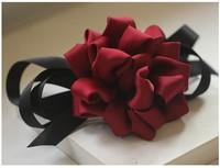 2013 Free Shiping Fashion  Han Edition Flower Cloth Art Bowknot  Large Hairpin Horizontal Top Clip Horsetail Hair Accessories