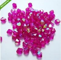 Free shipping 400pcs/lot Beautiful Crystal AB 4mm bicone beads 20198