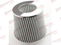 "3.5"" COLD AIR/SHORT RAM INTAKE/TURBOCHARGER RACING CONE MESHED GAUZE FILTER"