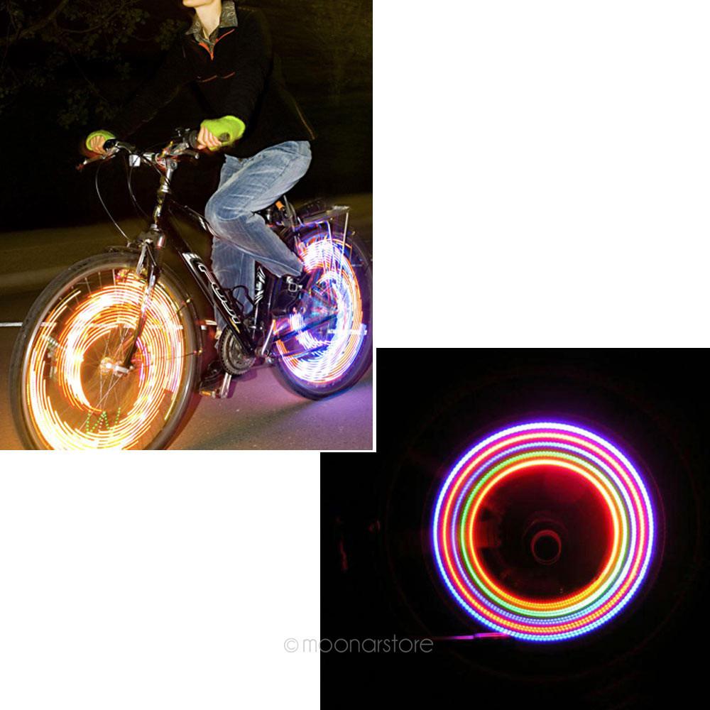 2pcs/1 Pair Bike Bicycle Cycling Car Tyre Wheel Neon Valve Firefly Spoke LED Light Lamp 5 LED Colorful Light Lamp HM318-20(China (Mainland))