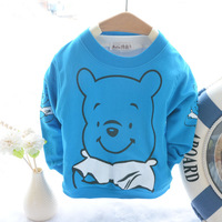 Child clothing retail 2014 new Spring and autumn cartoon Vinnie long-sleeve T-shirt 100% cotton baby sweatshirt Free shipping