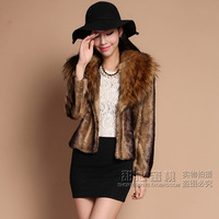 2013 fur coat mink fur overcoat female medium mink fur wool