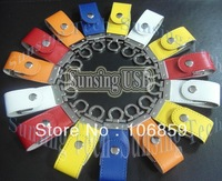 1GB 2GB 4GB 8GB USB Flash drive with Metal keychain Leather material & Free shipping Fast Delivery  50pcs/lot
