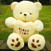 50 cm Beige /White Giant Big Plush Bear Soft Gift for Valentine Day Birthday Free Shipping
