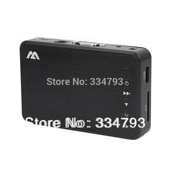 New Full HD 1080P USB External HDD Media Player with HDMI VGA SD Support MKV H.264 RMVB WMV Aluminum Shell .